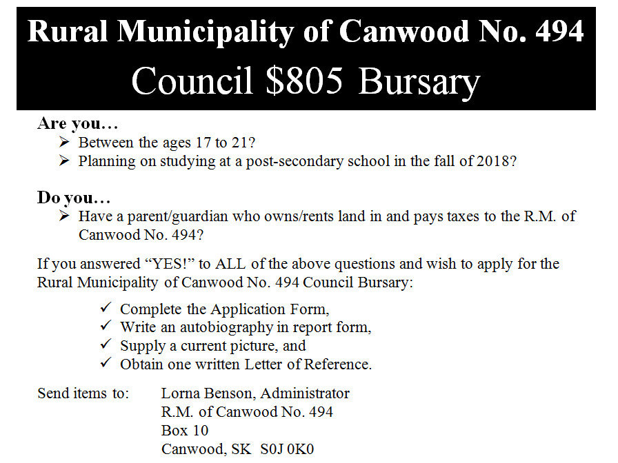 2018 Council Bursary