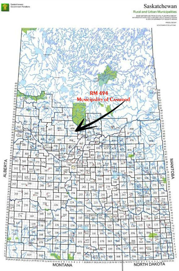 R.M. 494 Saskatchewan Map